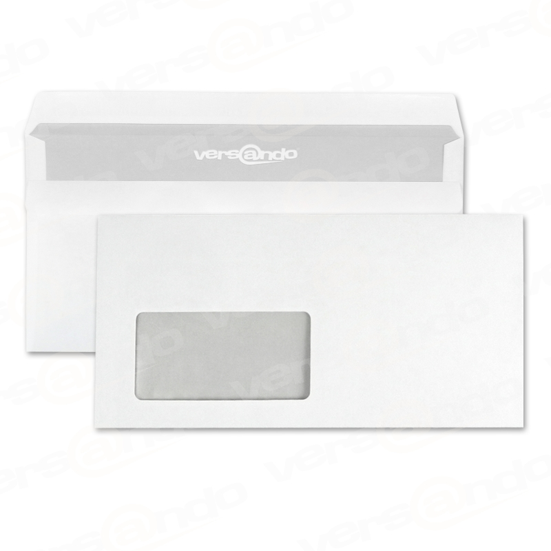 Envelopes Din Long With Window White Self Adhesive