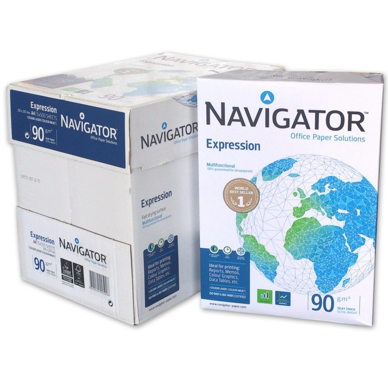 2500 blatt navigator expression 90g m a4 marken kopierpapier. Black Bedroom Furniture Sets. Home Design Ideas