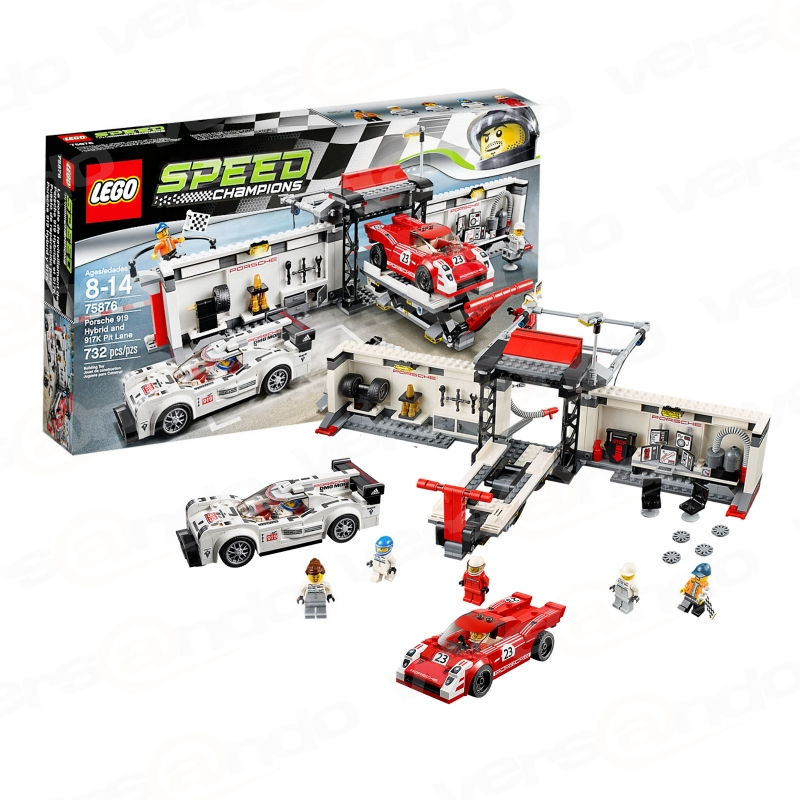 lego 75876 speed champions porsche 919 hybrid and 917k pit lane. Black Bedroom Furniture Sets. Home Design Ideas
