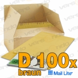 !!! SALE - 100 Mail Lite Bubble Padded Envelopes D4 Brown...