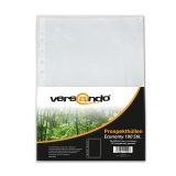 100 x Punched Pockets versando Economy for DIN A4 transparent grained PP