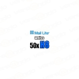 50 Mail Lite Bubble padded envelopes H/8 white