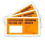 BRAND NEW and EXCLUSIVE - orange shipping document pockets / delivery note pockets DIN long orange/black