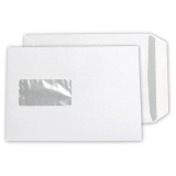 Envelopes DIN C5 with window, white, self-adhesive