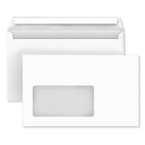 Envelopes DIN C6 with window, white, self-adhesive