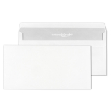 Envelopes DIN long without window, white, self-adhesive
