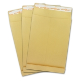Pocket envelopes DIN B4 brown 40mm block-bottom self-seal