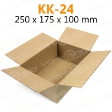 Wellpapp Folding carton 250 x 175 x 100mm Single wall...