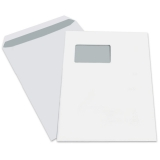 Window envelopes DIN C4 with window, self-adhesive envelopes