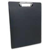 Clipboard A4 with plastic cover, black