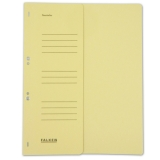 Hole-Punched Folders Falken 80003833, A4, chamois on half front cover, made from recycled fibre