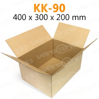 Wellpapp Folding carton 400 x 300 x 200mm Single wall board KK90