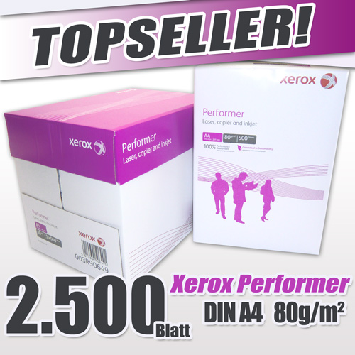 2.500 Blatt DIN A4 Marken-Kopierapier XEROX Performer
