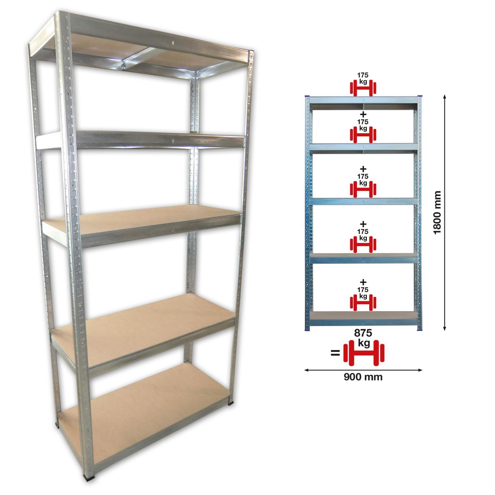steckregal lagerregal schwerlastregal werkstattregal kellerregal regal 875 kg eu ebay. Black Bedroom Furniture Sets. Home Design Ideas