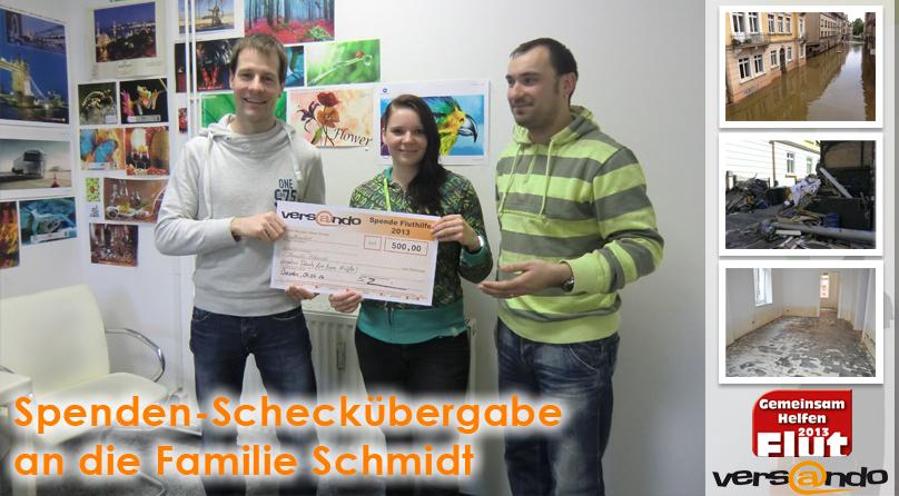 Übergabe Spende Fam. Schmidt