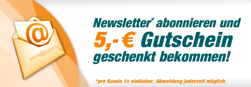 Newsletter abonnieren und 5,- EURO geschenkt!