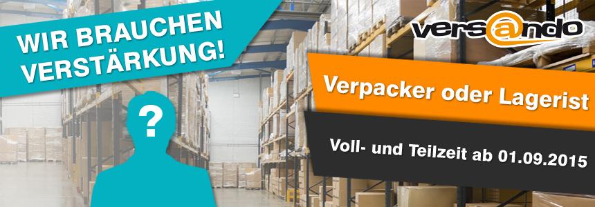 Wir suchen Verpacker oder Lageristen